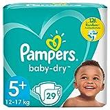 Pampers Baby-Dry Größe 5+, 29 Windeln, bis zu 12Stunden Rundumschutz, 12-17k