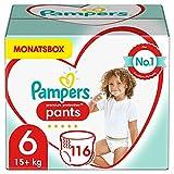 Pampers Baby Windeln Pants Größe 6 (15+ kg) Premium Protection, 116 Höschenwindeln,...