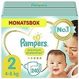 Pampers Größe 2 Premium Protection Baby Windeln, 240 Stück, MONATSBOX, Weichster...