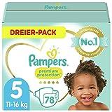 Pampers Größe 5 Premium Protection Baby Windeln, 78 Stück, Weichster Komfort Und Schutz...