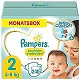 Pampers Baby Windeln Größe 2 (4-8kg) Premium Protection, 240 Stück, MONATSBOX, Pampers...