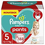 Pampers Größe 5 Baby Dry Windeln Pants, 132 Stück, MONATSBOX, Für Atmungsaktive...