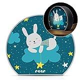 Reer MyBabyLight Hase Nachtlicht mit Hasenmotiv Einschlaflicht für Baby und Kind...