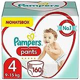 Pampers Baby Windeln Pants Größe 4 (9-15kg) Premium Protection, 160 Höschenwindeln,...