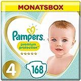 Pampers Größe 4 Premium Protection Baby Windeln, 168 Stück, MONATSBOX, Weichster...