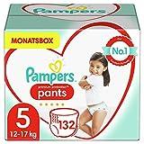 Pampers Größe 5 Premium Protection Baby Windeln Pants, 132 Stück, MONATSBOX, Weichster...
