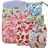 ohbabyka Wiederverwendbare Unisex Baby Tuch Pocket Windeln All in One mit 1?weichen Tuch...