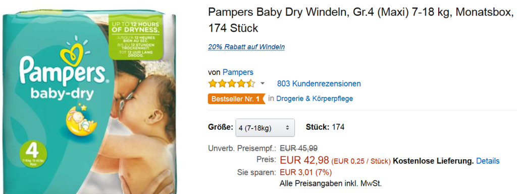 Jumbo Pack Pampers Baby Dry